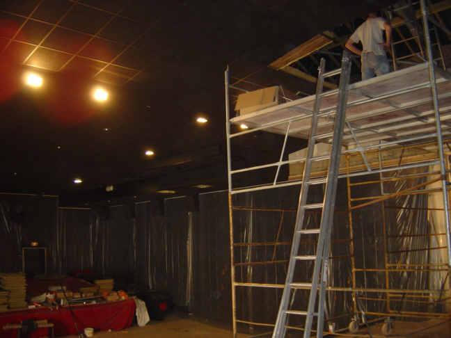 Modification du faux plafond